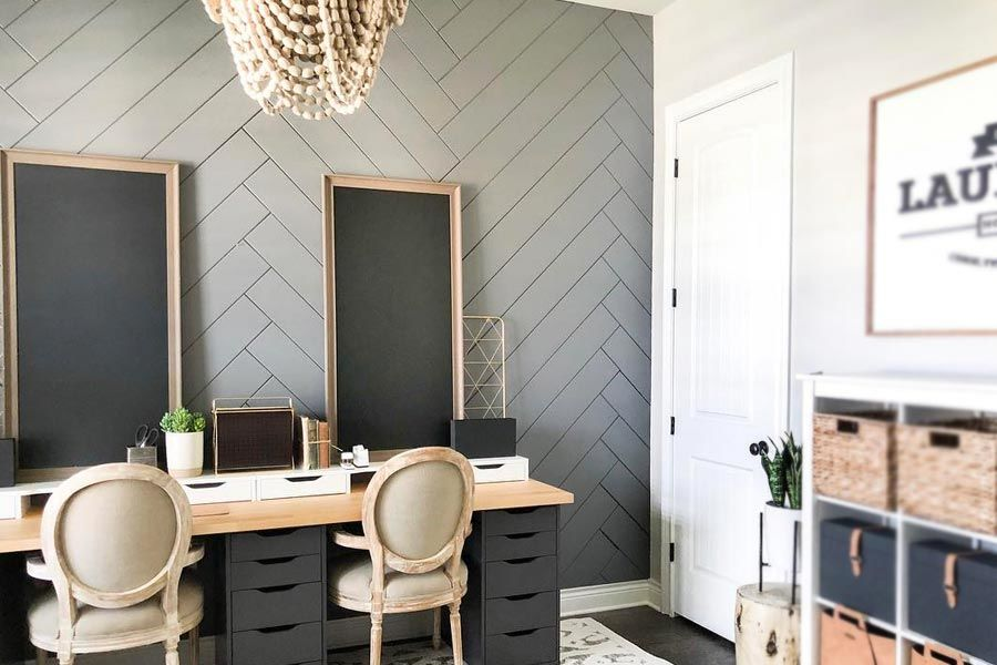Ideas How to Use Herringbone Pattern at Home Decor