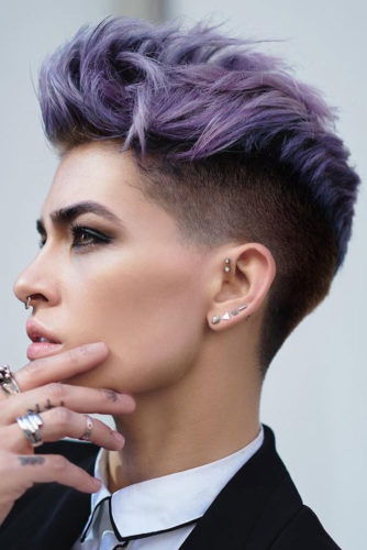 Awesome Colored Undercut picture 3
