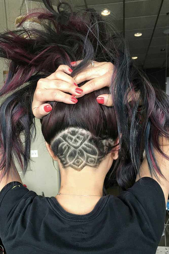 Mandala Hair Tattoo #longhair #hairtatoo