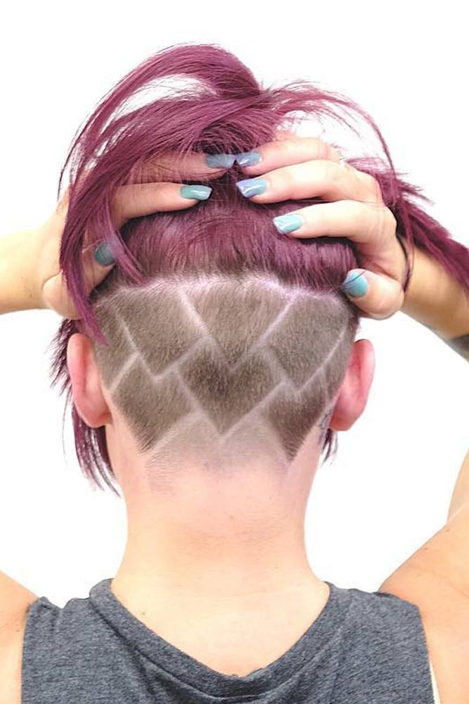 Geometric Undercut Pattern #hairtatoo #shavedhair