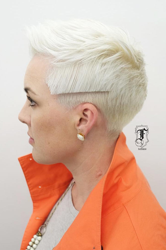 Tomboy-Inspired Undercut Hairstyle #shorthair #blondehair