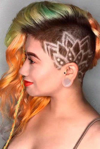 Freehand Design #sidepartedhair