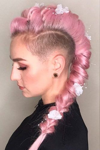 Long Pink Hair With Undercut #pinkhair #braidedhairstyles