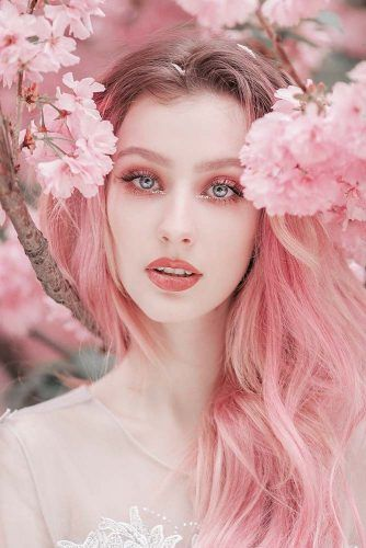 Beautiful Woman Portrait With Cherry Blossom Flowers #cherryblossom #portrait