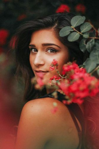Female Portrait With Flowers #flowers #portrait