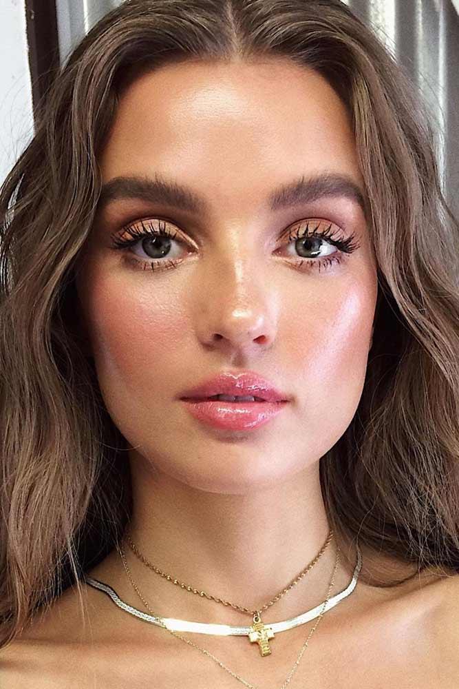 Natural Glow Makeup Idea #grayeyes