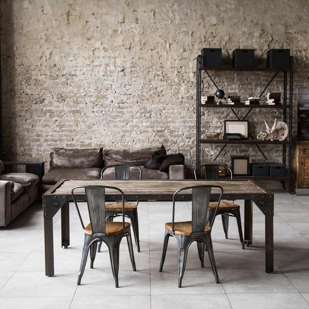 Dining Room with Dark Colors