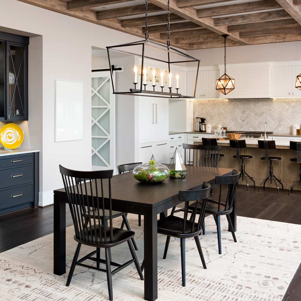Dining Room with Wooden Accent