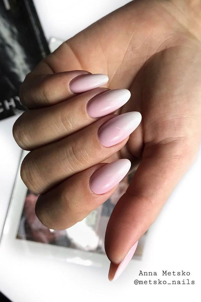 Classic French Ombre Nails Desin #frenchombre