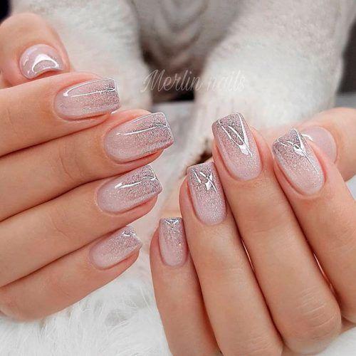 Shiny Glitter Ombre Nails #glitterombrenails #shinynails
