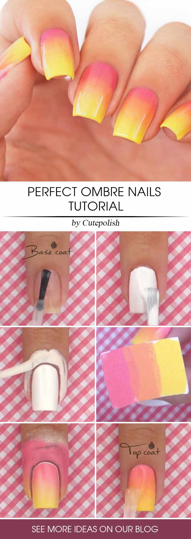 How To Do Ombre Nails Step By Step #diyombre #nailstutorial