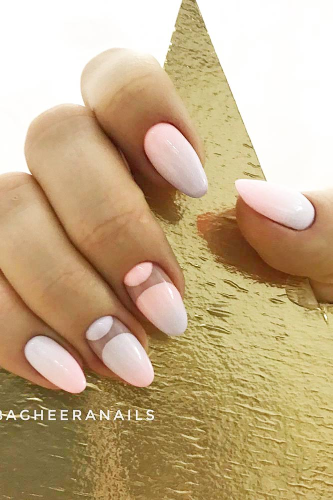 Pastel Ombre With Negative Space Art #pastelombre #moonnailsart