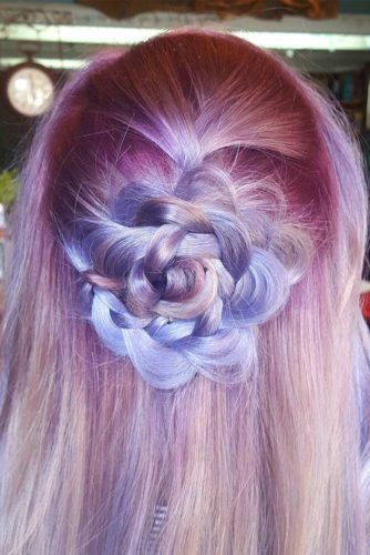 21 Pretty Rose Hairstyles for Long Hair - Ideas from Daily to Special Occasion