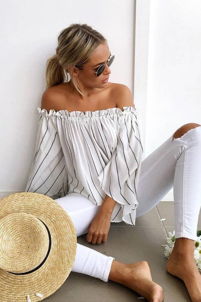 Cute Shoulder Tops Looks picture 2