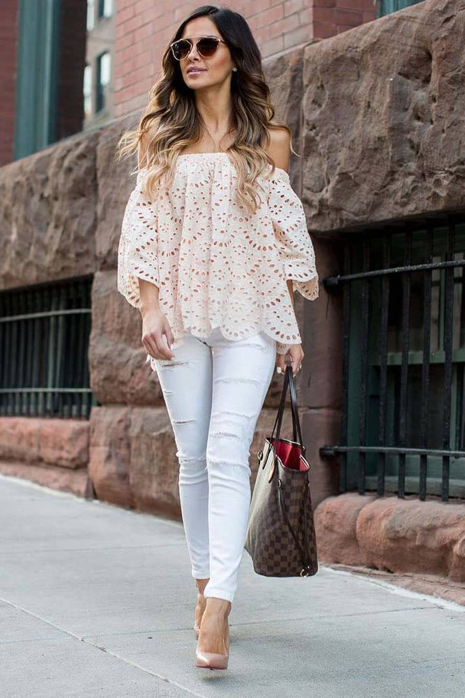 Stylish Outfit Ideas with Shoulder Tops picture 2