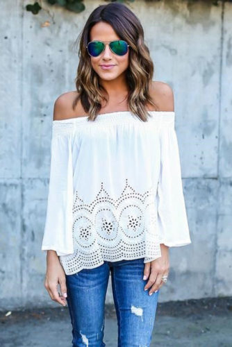 Stylish Outfit Ideas with Shoulder Tops picture 3