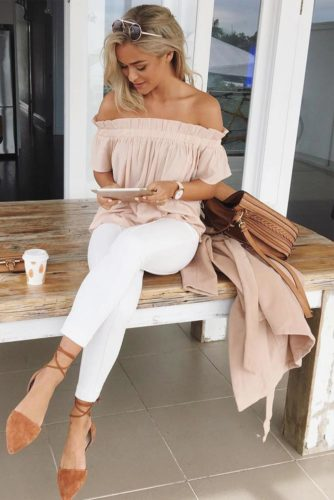 Stylish Outfit Ideas with Shoulder Tops picture 4