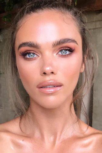 Natural Glam Makeup Idea #glammakeup
