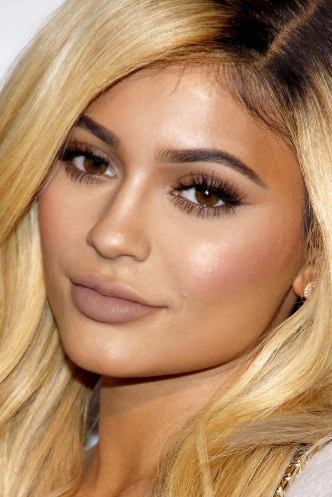 Natural Makeup With Nude Matte Lips #kyliejenner #celebrity