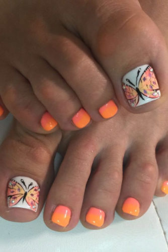 Butterfly Colorful Nail Art