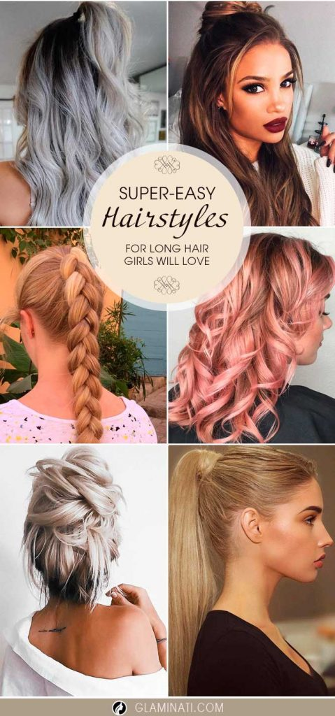 Super-Easy Long Hairstyles Girls Will Love