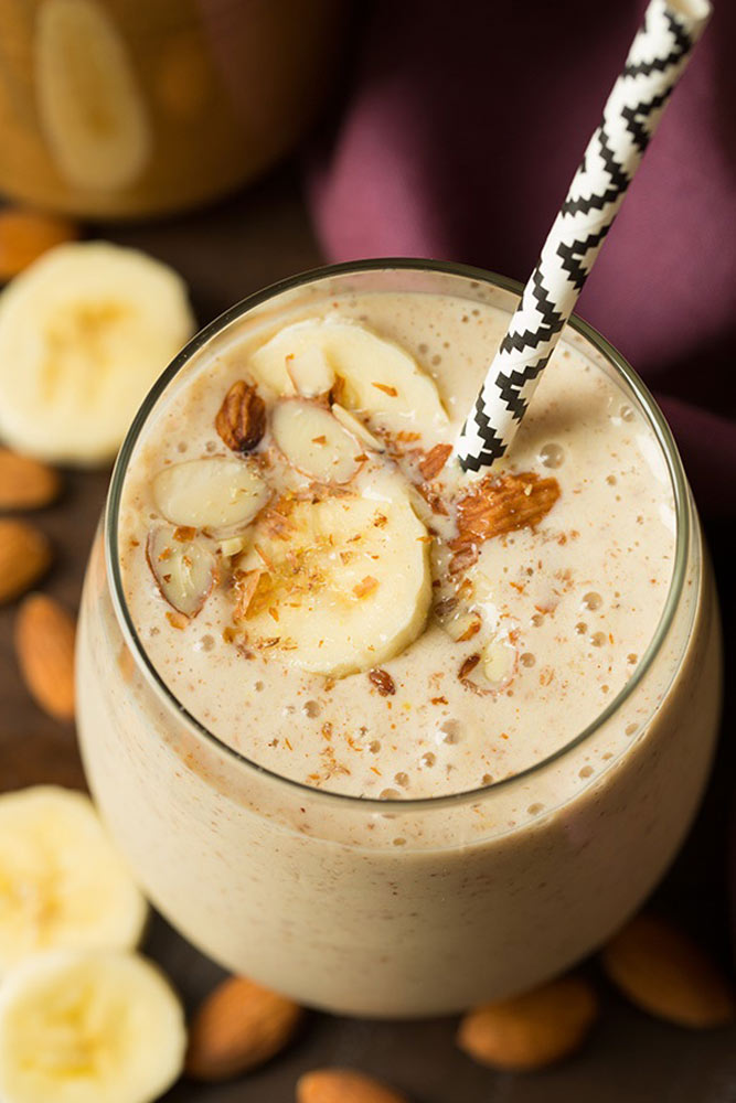Banana Almond Flax Smoothie
