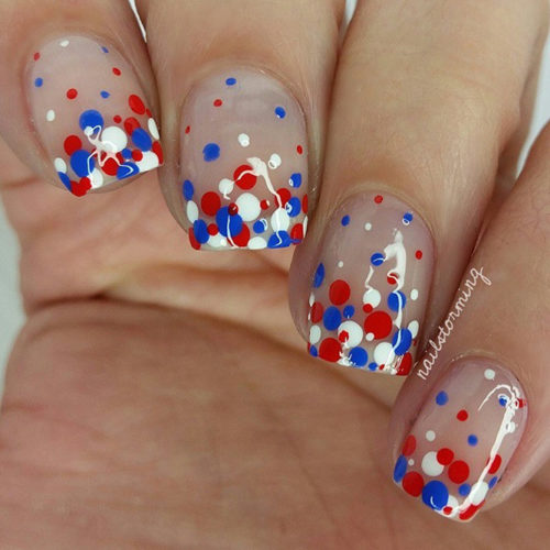 Festive Red White and Blue Nail Designs picture 1