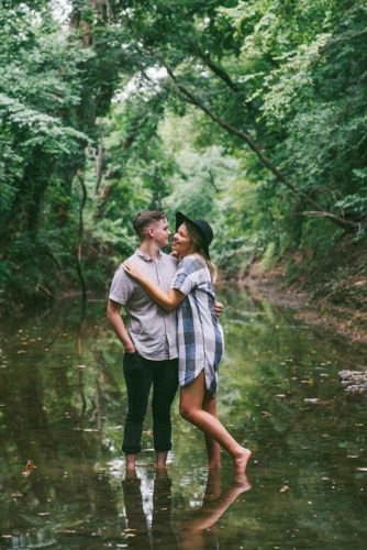 Romantic Couples In The Wild Nature picture 2
