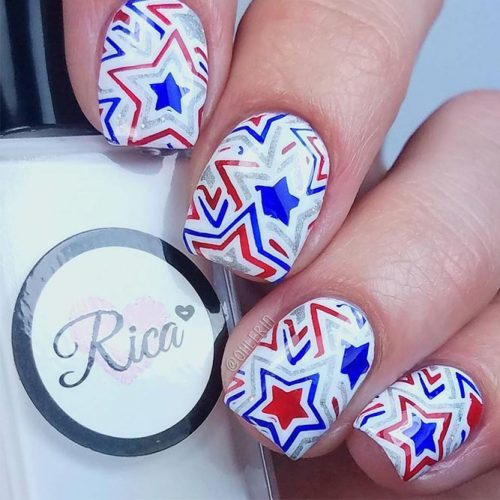 Summer Nail Designs in Patriotic Style picture 3