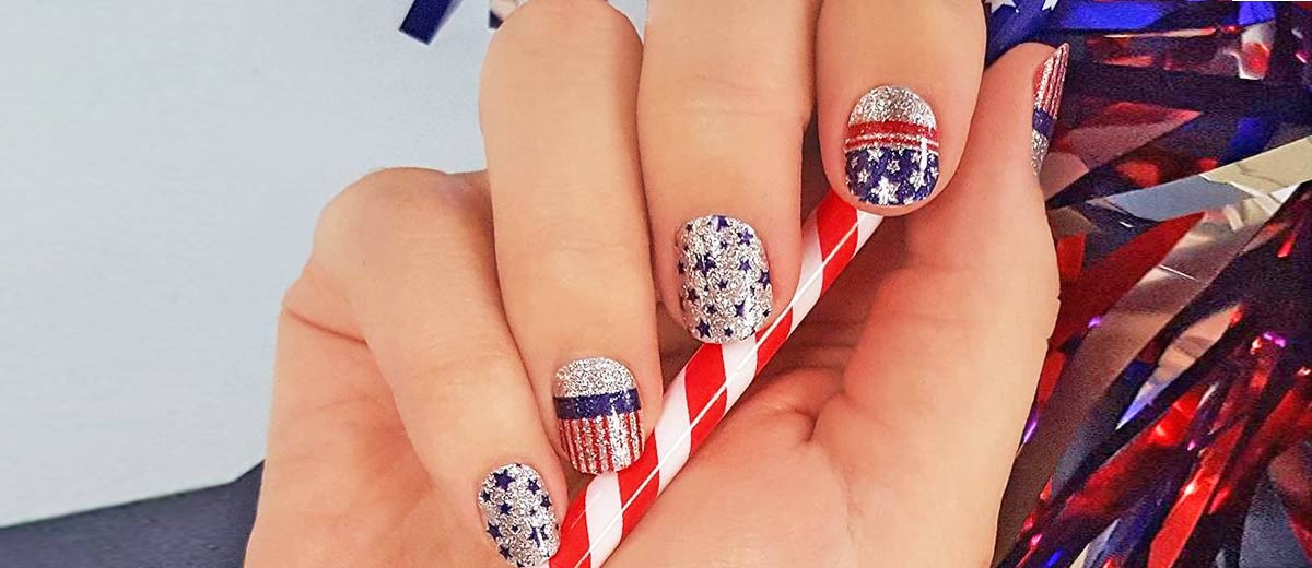 30 Fun Easy Nail Designs to Celebrate Labor Day