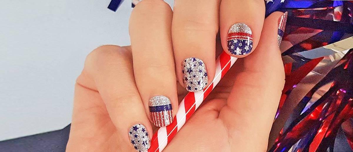 30 fun easy nail designs to celebrate labor day prinsesfo Images