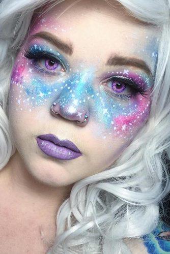 21 Galaxy Makeup Looks - Creative Makeup Ideas for Extraordinary Girls