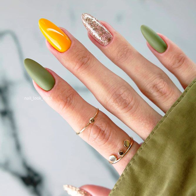 Simple Mani With Fall Nail Colors
