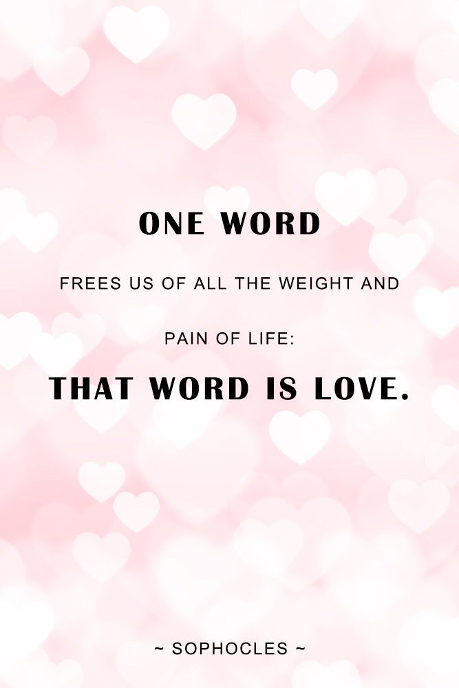 top ten one word love quotes for him