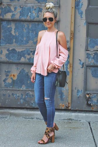 Sexy Shoulder Tops Outfit Ideas picture 1