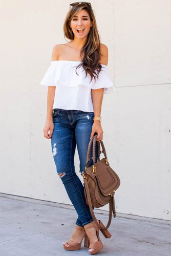 Cute Shoulder Tops Looks picture 5
