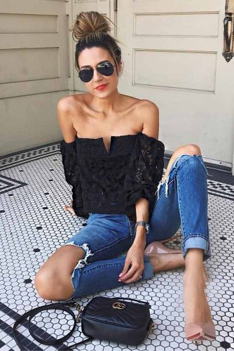 Sexy Shoulder Tops Outfit Ideas picture 4