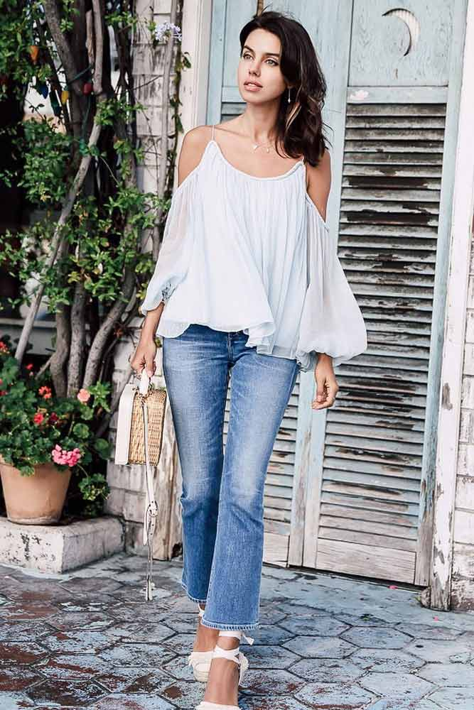 Sexy Shoulder Tops Outfit Ideas picture 3