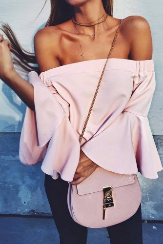 Cute Shoulder Tops Looks picture 3