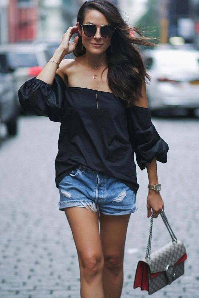 Demure Outfit Ideas with Off the Shoulder Tops picture 3