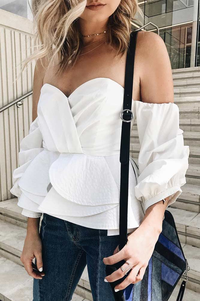 Demure Outfit Ideas with Off the Shoulder Tops picture 1