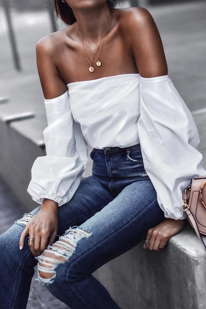 Beautiful Off the Shoulder Top Ideas picture 4