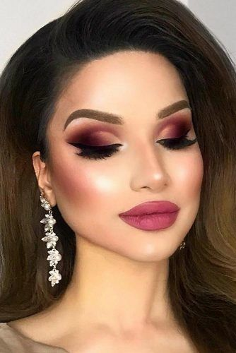 Berry Shades For Smokey Eyes Makeup #berrylips