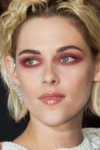 Matte & Burgundy Smokey Eyes #kristenstewart