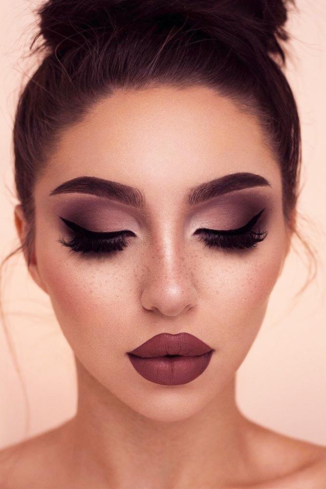 Matte Smokey Makeup Idea #matteshadow #eyeliner