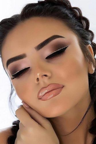 Matte Smokey Eyes With Double Eyeliner #nudelipgloss