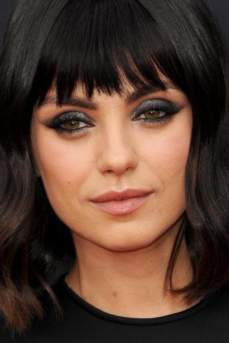Shimmery Smokey Eyes With Eyeliner #milakunis