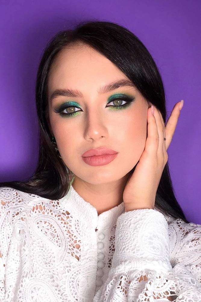 Green Eyes Color And Green Smokey –Perfect Mix