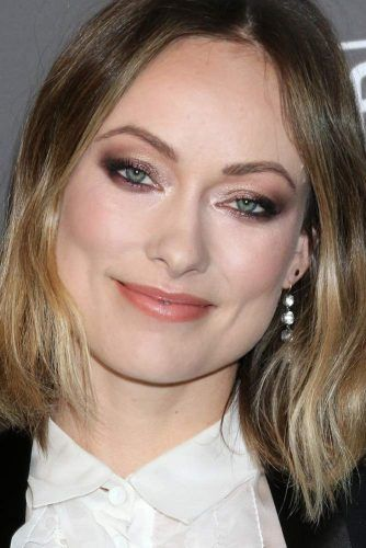 Shiny Smokey Eyes With Nude Lipstick #oliviawilde