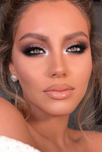 Shimmer Smokey Eyes With Nude Lips #shimmersmokey #nudelipgloss